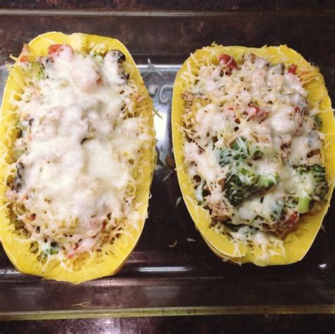 spaghetti squash boats spaghetti squash boats healthy low carb recipe food is