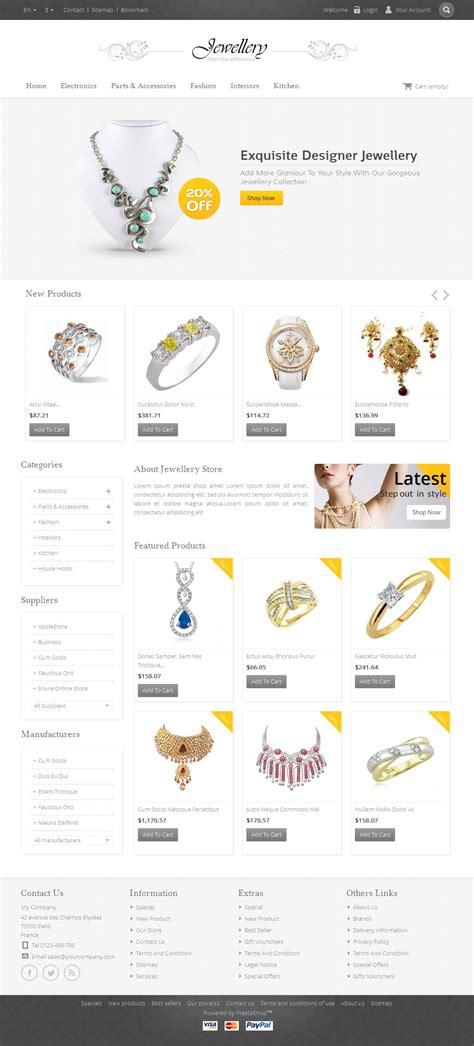 themeforest jewellery jewellery prestashop responsive template by templatemela