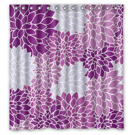 purple fabric shower curtains vintage floral purple waterproof polyester fabric shower
