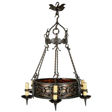 1920s Chandelier 1920s Iron Chandelier At 1stdibs