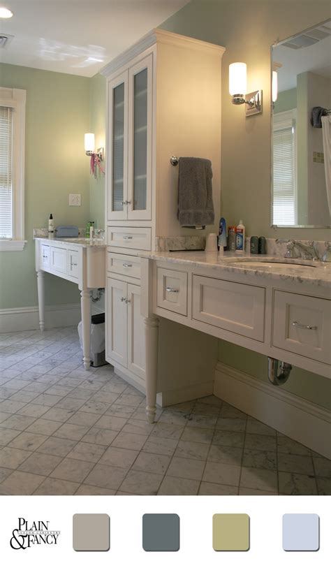 calm bathroom colors pin by plain fancy custom cabinetry on colors that