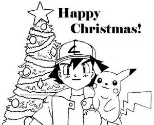 Pokemon christmas coloring pictures free to print