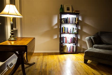 led bookcase lighting traditional living room st