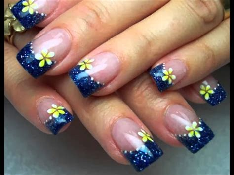 flores pintadad en las uas u 241 as pintadas con flores nail decoration with flowers