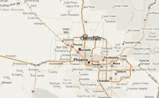 map of glendale arizona vacations travel map