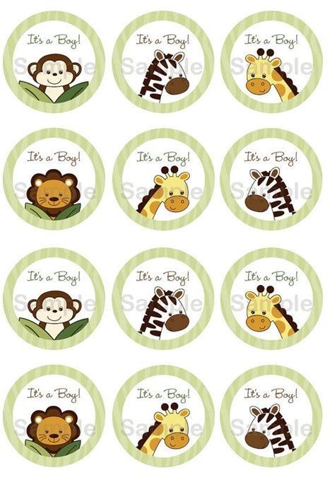 printable jungle animal labels safari friends jungle animal cupcake toppers party favor