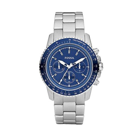 Jam Pria Fossil Crono On Silver Jual Fossil Ch2752 Chronograph Jam Tangan Pria Blue