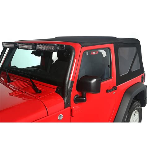jeep wrangler top view rugged ridge 13737 35 replacement top black 10