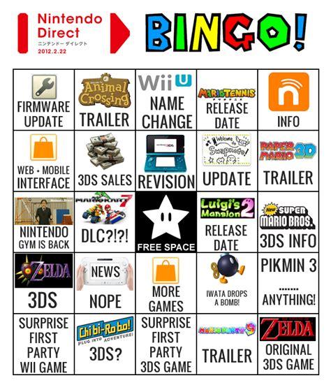 E3 Bingo Card Template by Pikmin 2 Wii
