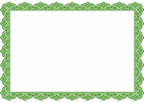 6 Best Images Of Green Certificate Borders Templates Free Wedding Ppt Templates Free Border Green