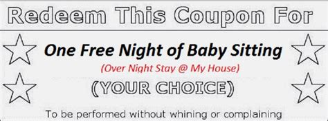 9 Best Images Of Printable Babysitting Voucher Free Babysitting Coupon Template Free Free Babysitting Coupon Template