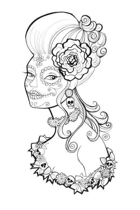day of the dead face coloring pages free printable day of the dead coloring pages by heather