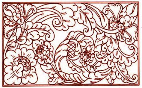 desain gambar flora sketsa gambar motif batik sederhana batik indonesia
