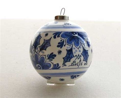delft blue christmas ornament holland blauw pinterest