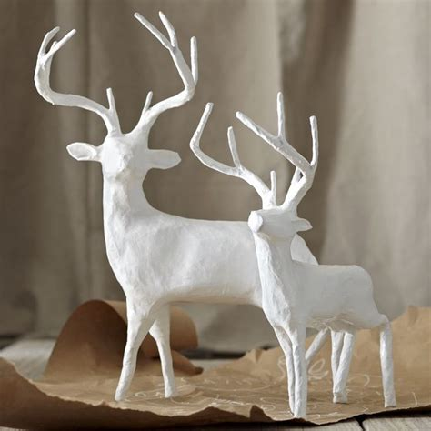 How To Make A Paper Mache Deer - papier m 226 ch 233 reindeer modern accents and