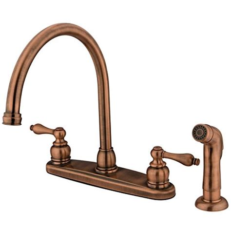 kitchen faucet copper kingston brass kb726alsp kitchen faucet antique copper