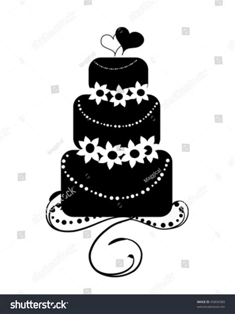 Wedding Cake Vector by The Gallery For Gt Wedding Cake Silhouette Vector