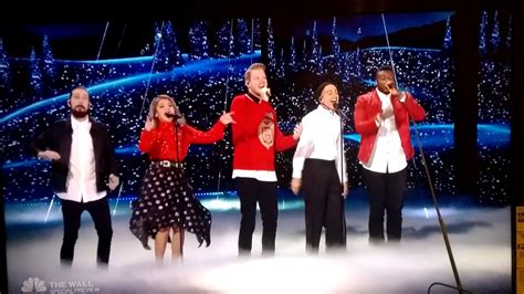 pentatonix sings merry christmas happy holidays  americans  talent  youtube