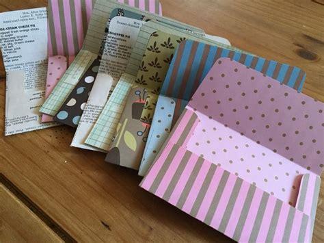 Pen Paper Kiky Envelope handmade envelopes out of sided paper vintage cookbook pages and vintage ledgers going