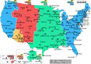us time zone map my big maps yuma az