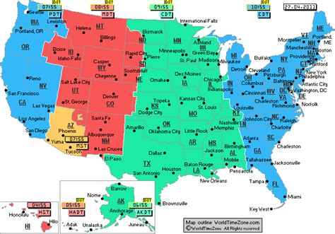 us time zone map by zip code us time zone map my big maps yuma az