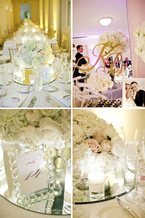 elegante deko mirrored wedding reception decor venue onewed