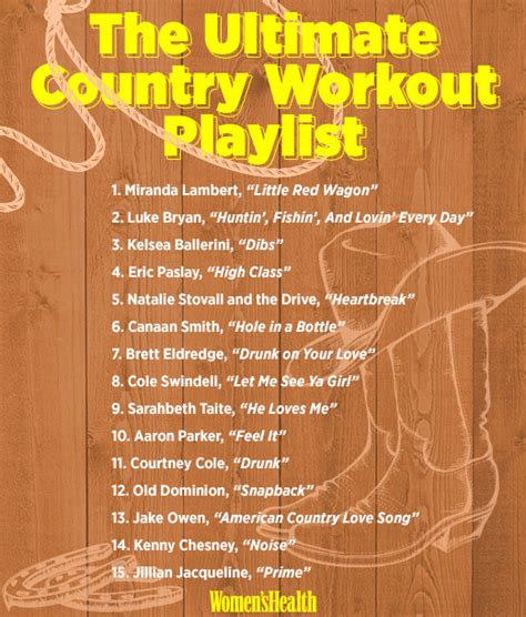 the ultimate country workout playlist women s health