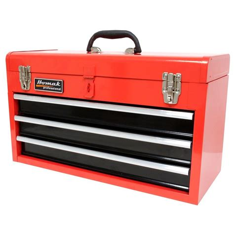 tool box homak 20 in 3 drawer tool box red rd01032101 the home