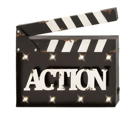 How To Make Wall Decor At Home by Quot Action Quot Clapperboard Led Wall Decor Hollywood Movie