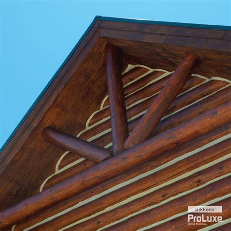 Log Cabin Wood Stain by Log Cabin Gable Rustic Exterior By Sikkens 174 Proluxe Wood Finishes