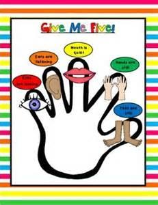 free give me five behavior management poster vertical