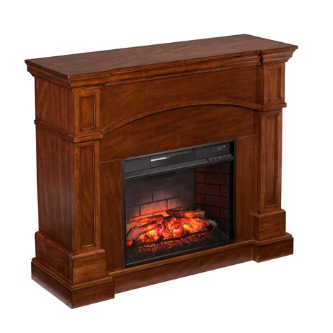 Southern Enterprises White Plains 45 75 In W Corner Corner Electric Fireplaces Home Depot