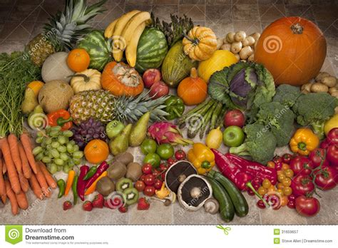 produce vegetables and fruit display fruit and vegetables display royalty free stock
