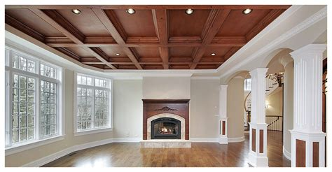 Waffle Ceiling Vs Coffered Ceiling Toronto Waffle Ceilings Beamed Coffered Tray Bulkhead