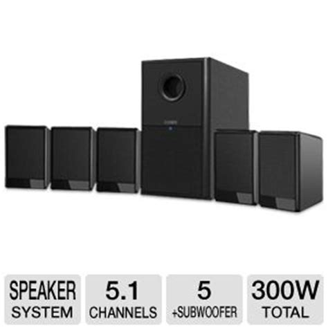 coby csp97 home theater speaker system 5 1 channel 300
