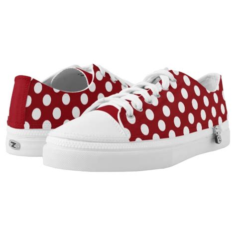 with white polka dot tennis shoes zazzle
