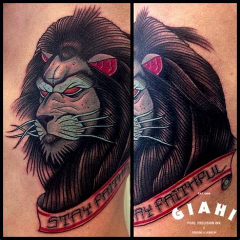 tattoo old school lion old school lion tattoo by jack gallowtree
