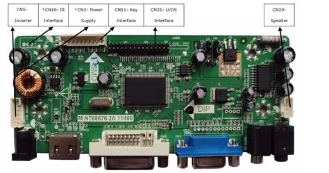 Touch Screan Board Controler Untuk Notebook Hp 11 E012au m nt68676 vga dvi hdmi lcd controller board kit for chimei