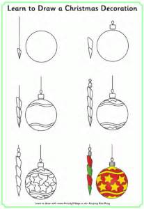 learn to draw a christmas decoration