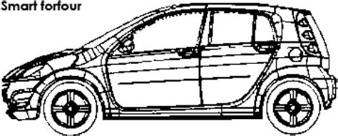 smart car coloring page smart forfour dimensions