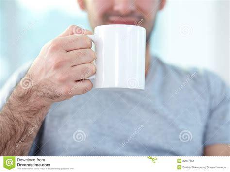 Holding Mug Stock Image   Image: 32047551