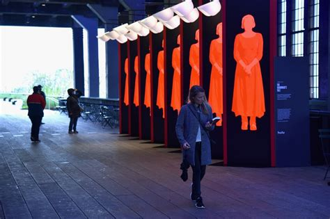 the handmaids tale york 1292138181 pentagram brings the handmaid s tale to new york city s high line creative boom