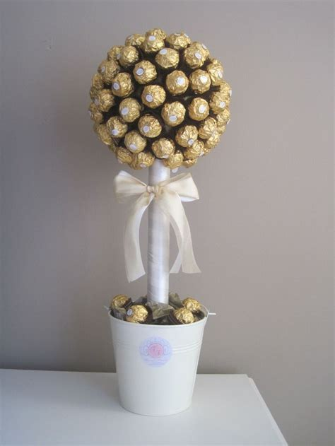 White Chocolate Tree Decorations by Ferrero Rocher Tree With Simple White Colours Pinteres