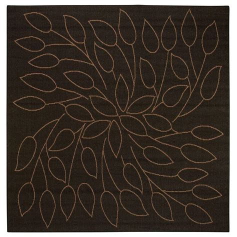 persimmon rug home decorators collection persimmon black 7 ft 6 in square area rug 4248643210 the home depot