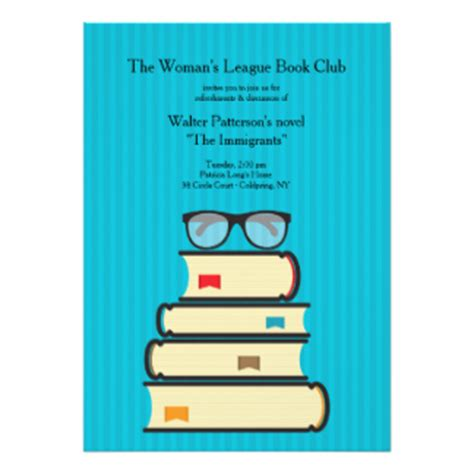 book club invitation template book club invitations announcements zazzle