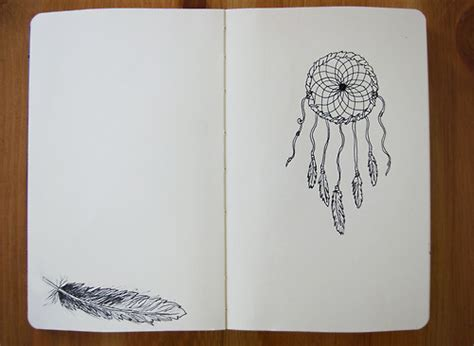 The Catcher Notebook drawing dreamcatcher feather notebook image 264252
