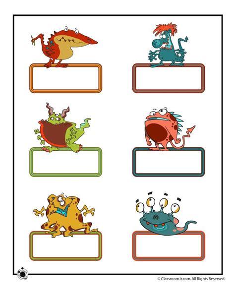 printable monster name tags free printable monster tags 2012 13 room theme