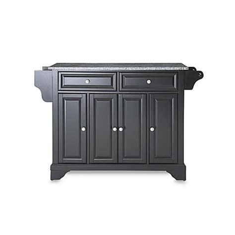 crosley lafayette kitchen island with granite top buy crosley lafayette granite top kitchen island in black