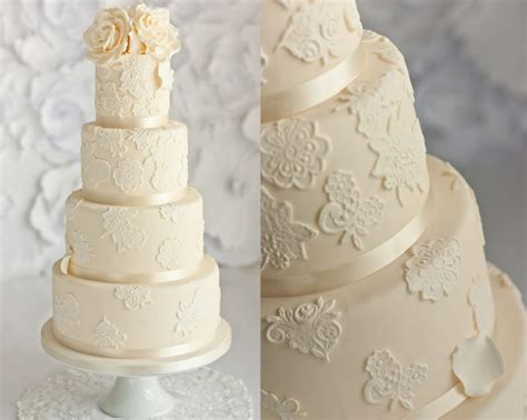Hochzeitstorte Ivory by Ivory Wedding Ivory Lace Wedding Cake 1974671 Weddbook