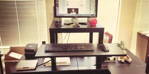 Stand Up Desk Ikea Hack This 22 Standing Desk Is The Ultimate Ikea Hack Huffpost